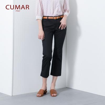 【CUMAR】棉質上班族系列-女七分長褲(二色/版型修身)