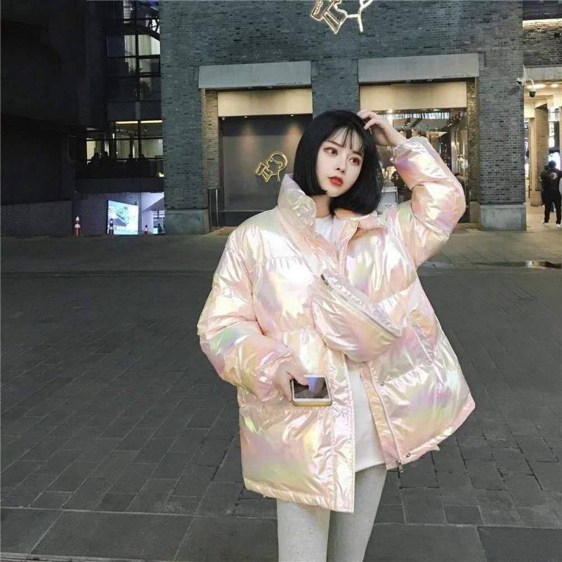 【爆款】棉襖女學生韓版寬鬆2020潮ins新款亮面中長款加厚棉衣棉服外套女下褸