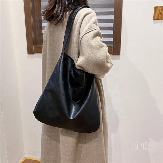 大容量包包女包2020新款潮時尚簡約單肩包網紅百搭托特包軟皮大包dy