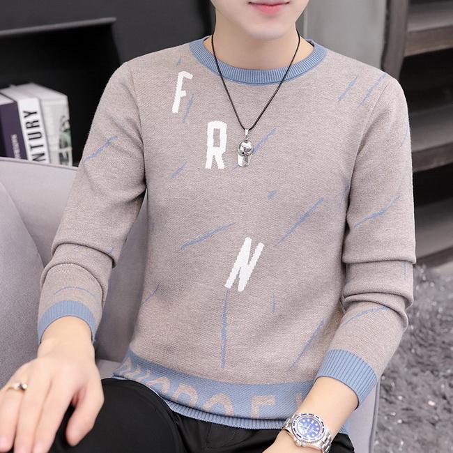 FOFU-(任選2件888)圓領毛衣韓版針織衫【08SB00154】