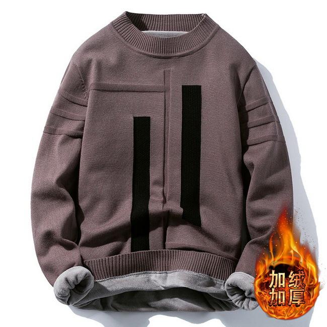 FOFU-(任選2件980)加絨加厚毛衣圓領針織衫【08SB00082】