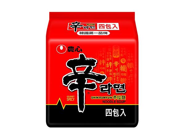 韓國 農心~ 辛拉麵(120g x 4入/整袋裝)【D157365】