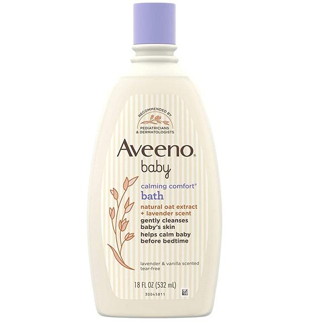 Aveeno Naturals 燕麥寶寶舒眠保濕泡澡沐浴乳 18oz(532ml) 家庭號