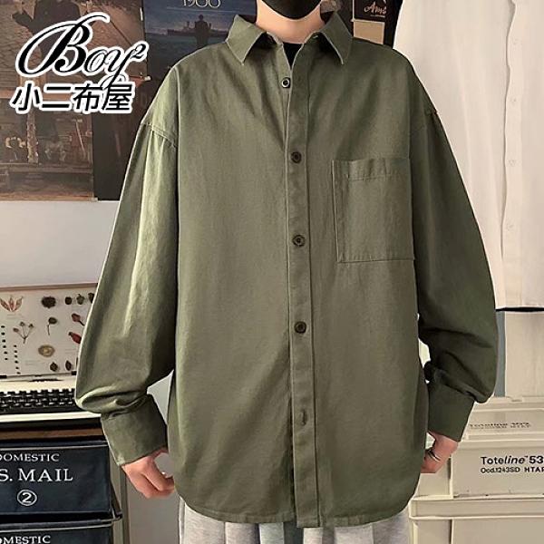 男襯衫 原宿風寬版工裝大尺碼長袖襯衫【NLRCXQ-C08】