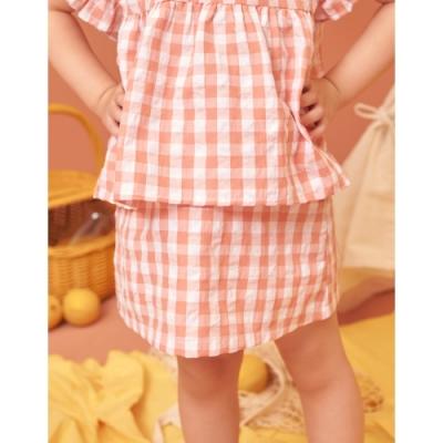 CACO-維尼格紋短裙(二色)-親子款-童【B3DI019】
