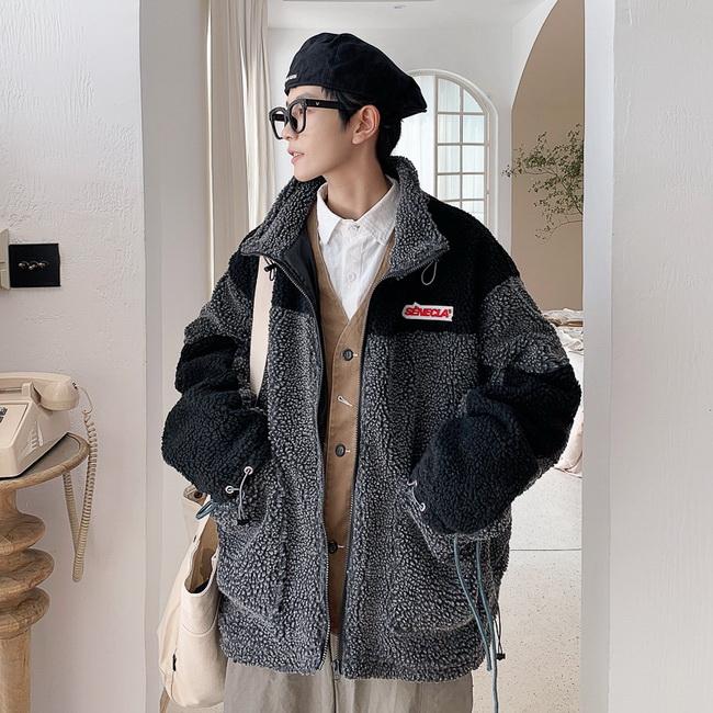 FOFU-潮港仔羊羔毛鋪棉外套情休閒侶保暖外套【08SB00203】