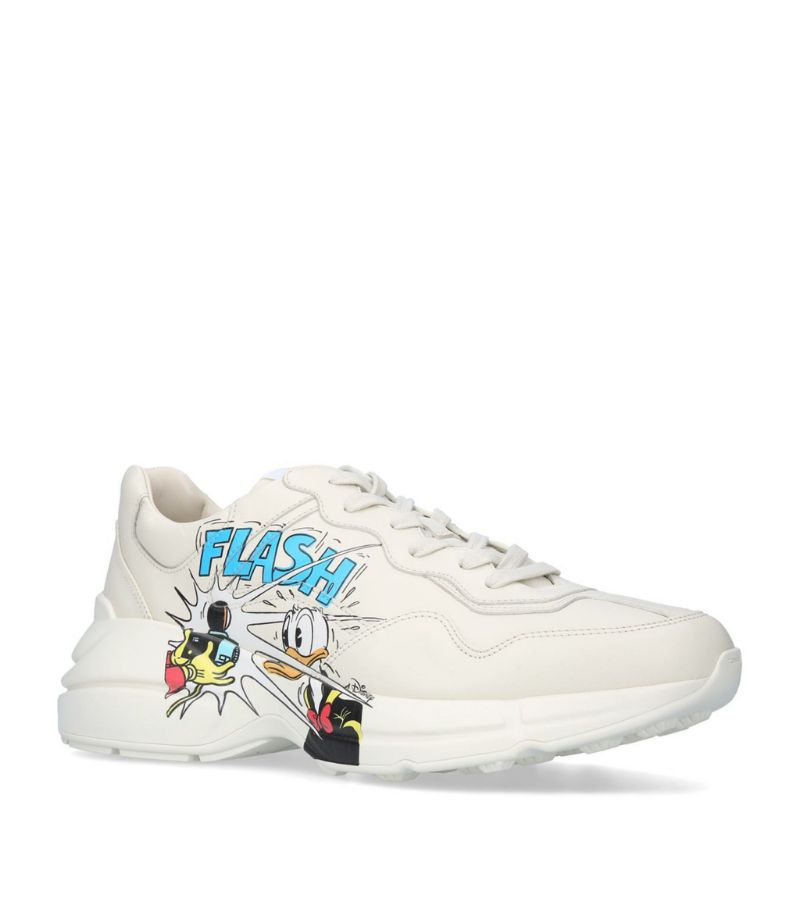Gucci + Disney Leather Donald Duck Rhyton Sneakers