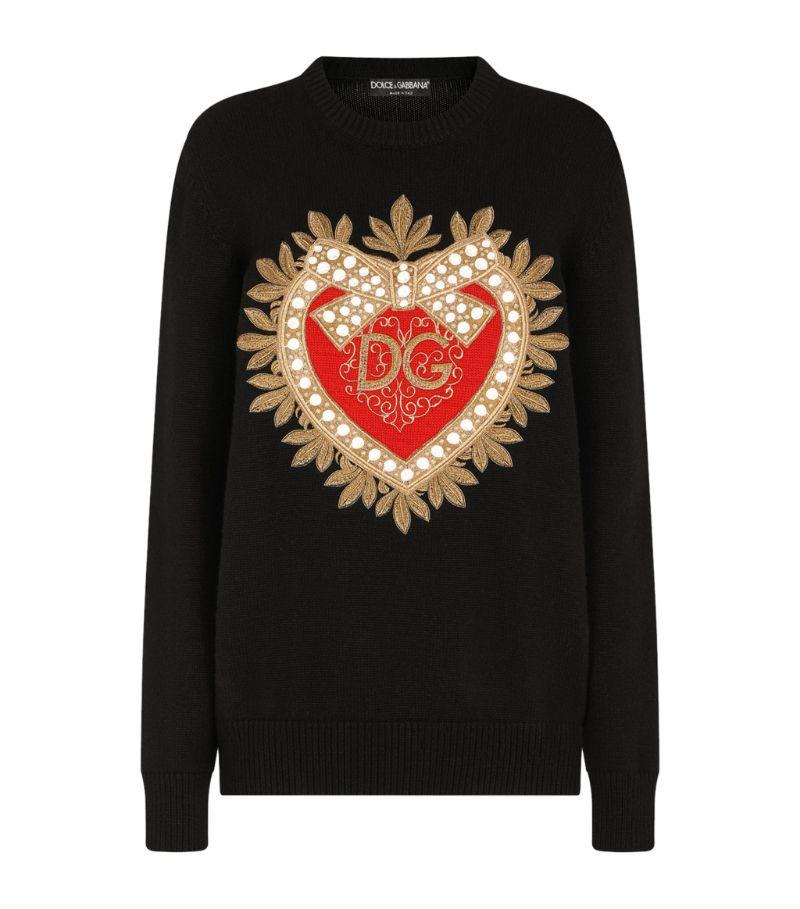 Dolce & Gabbana Cashmere Logo Sweater