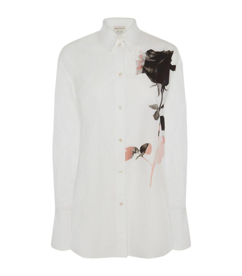 Alexander Mcqueen Rose Printed Shirt