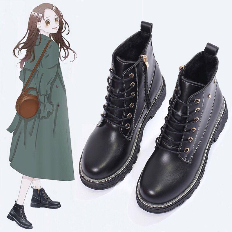 2020秋冬季新款英倫風馬丁靴女學生韓版百搭平底短靴子裸靴單靴子