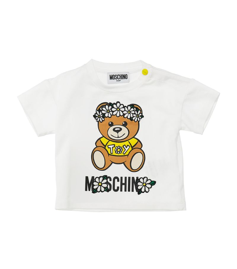 Moschino Kids Teddy Bear Daisy Crown T-Shirt (3-36 Months)