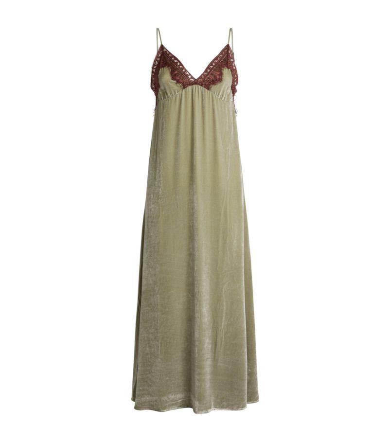 Sleeping With Jacques Velvet Freya Slip Dress