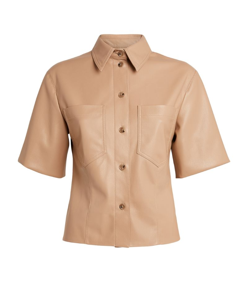 Nanushka Sabine Vegan Leather Shirt