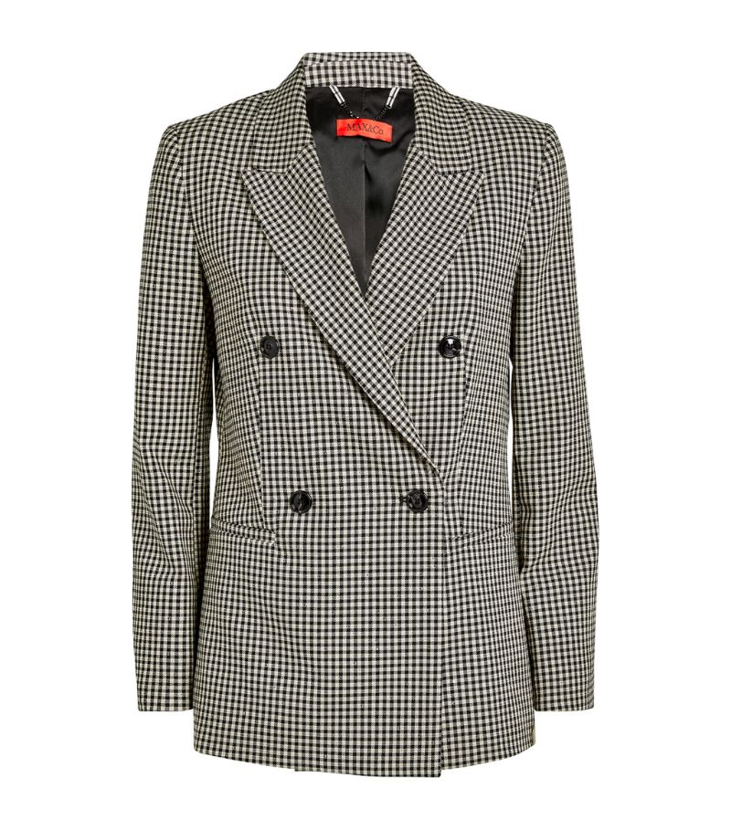 Max & Co. Double-Breasted Gingham Blazer