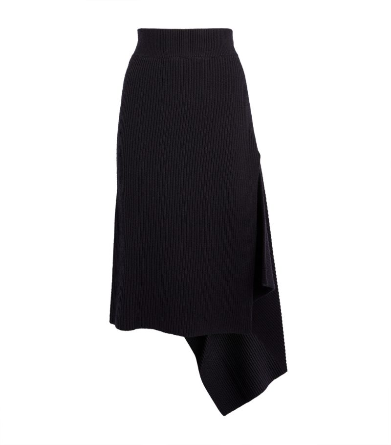 Monse Merino Wool Sliced Rib Skirt