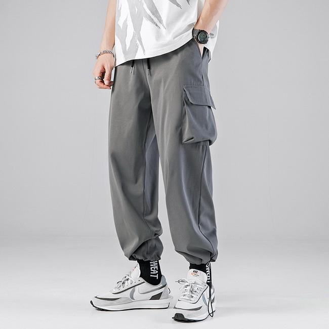 FOFU-(任選2件888)日系機能風工作風褲休閒寬鬆束腳褲H【08SB00165】