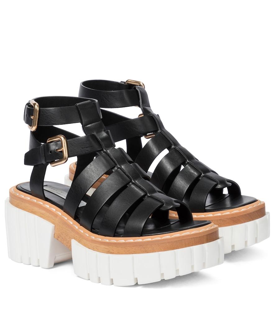 Emilie faux leather platform sandals