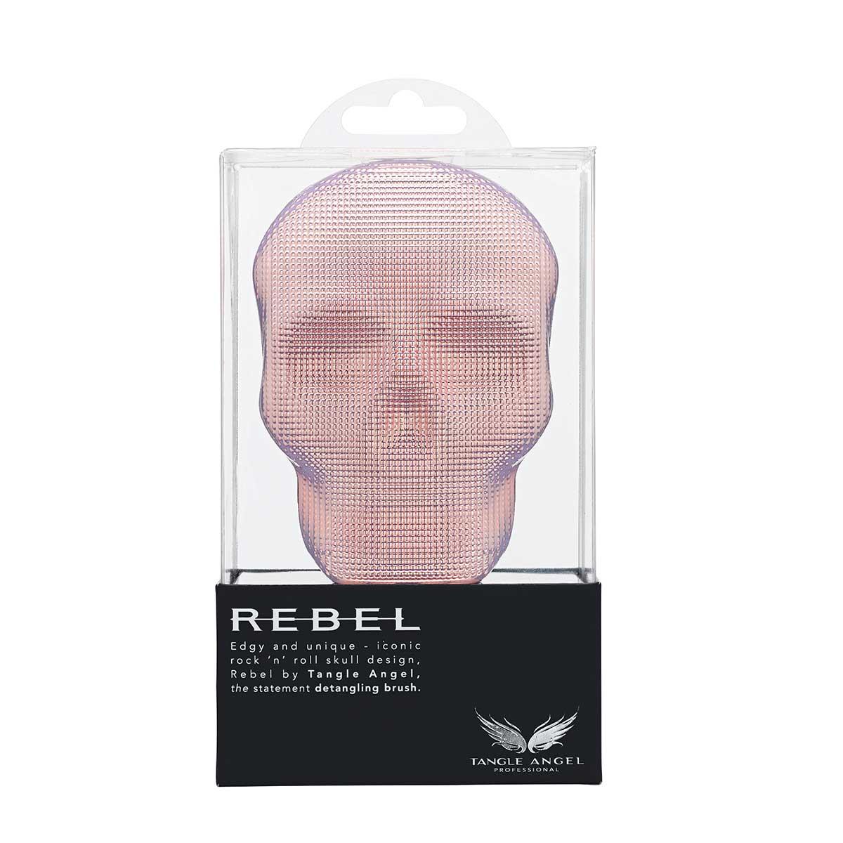 9折加贈↘Tangle Angel 惡魔天使梳(粉金色) Rebel Pink Chrome加贈 運動魔髮圈-純黑款【寵愛禮品節】