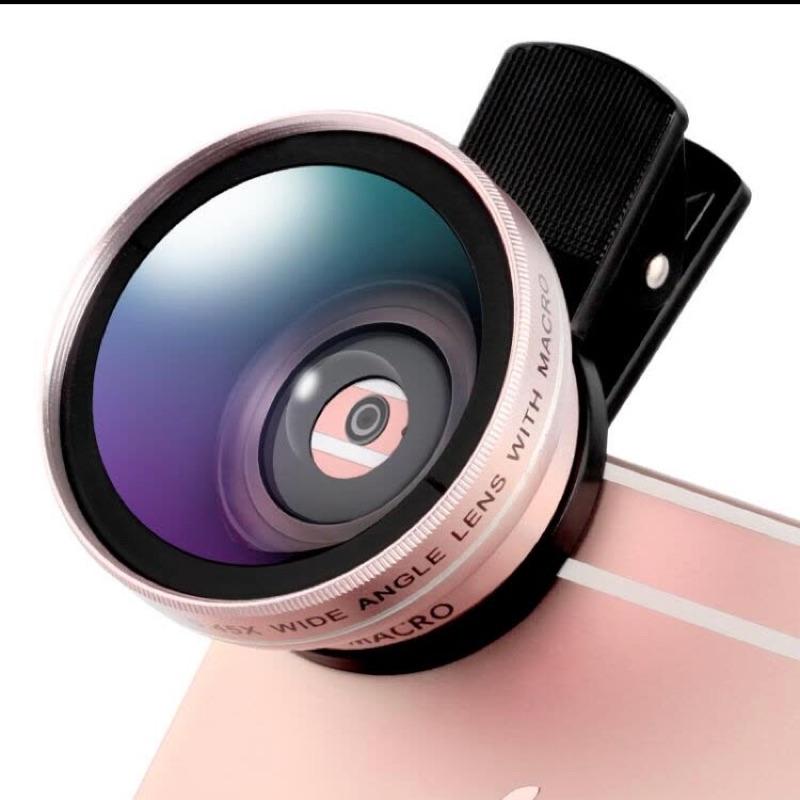 LIEQI LQ-027 0.45X超大廣角+10X微距 二合一手機鏡頭