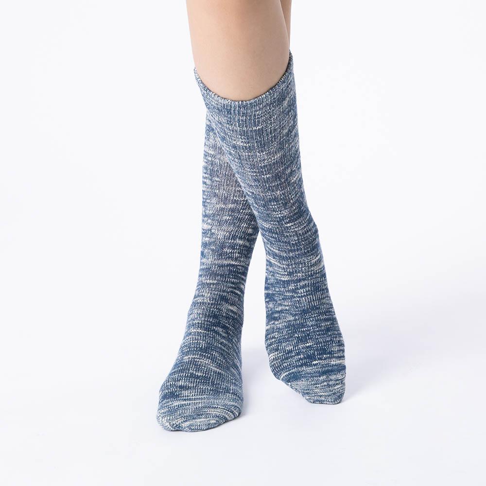 男繽紛雪花發熱襪-藍 (商品編號:S1000265)
