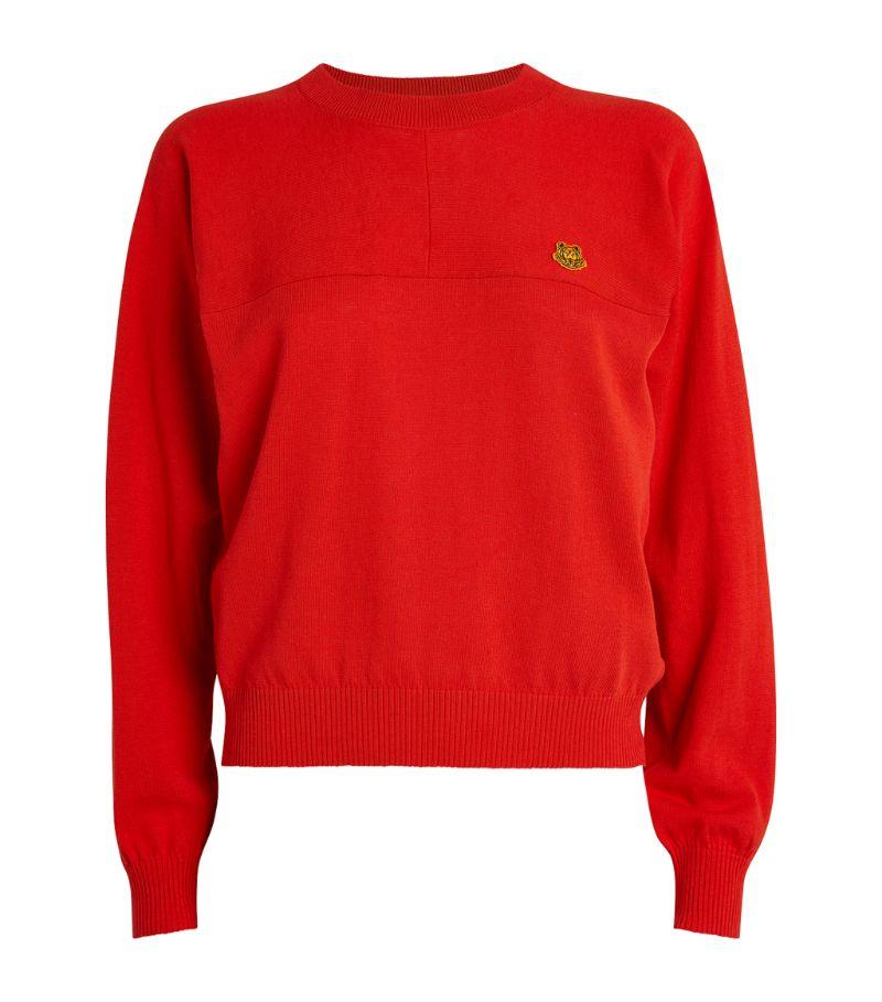 Kenzo Cotton Tiger Crest Sweater