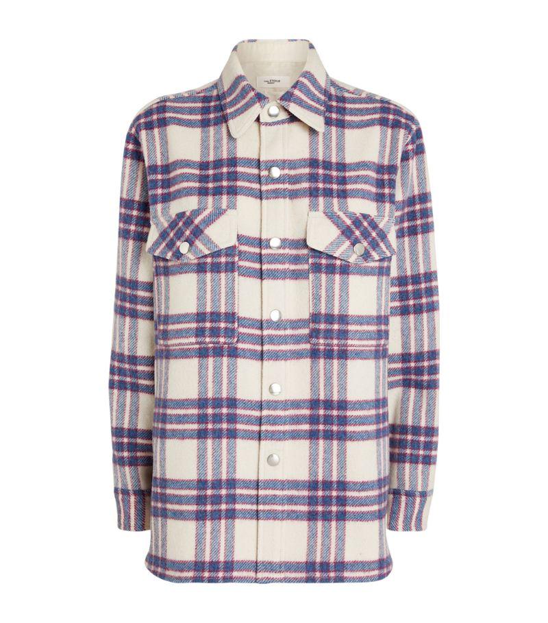 Isabel Marant Étoile Plaid Wool Faxonli Shirt Jacket