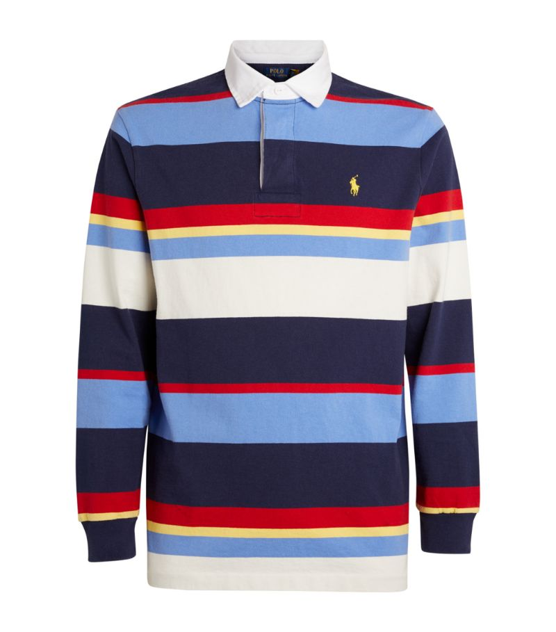 Polo Ralph Lauren Striped Long-Sleeved Polo Shirt