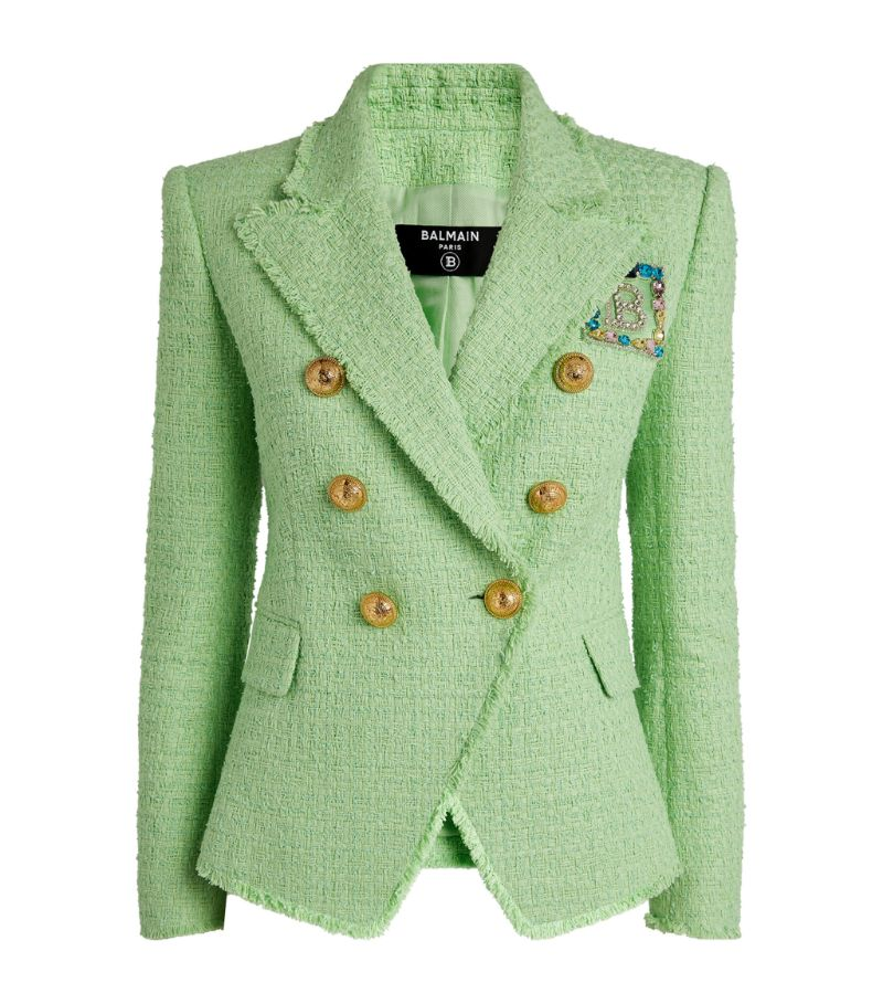 Balmain Tweed Double-Breasted Jacket