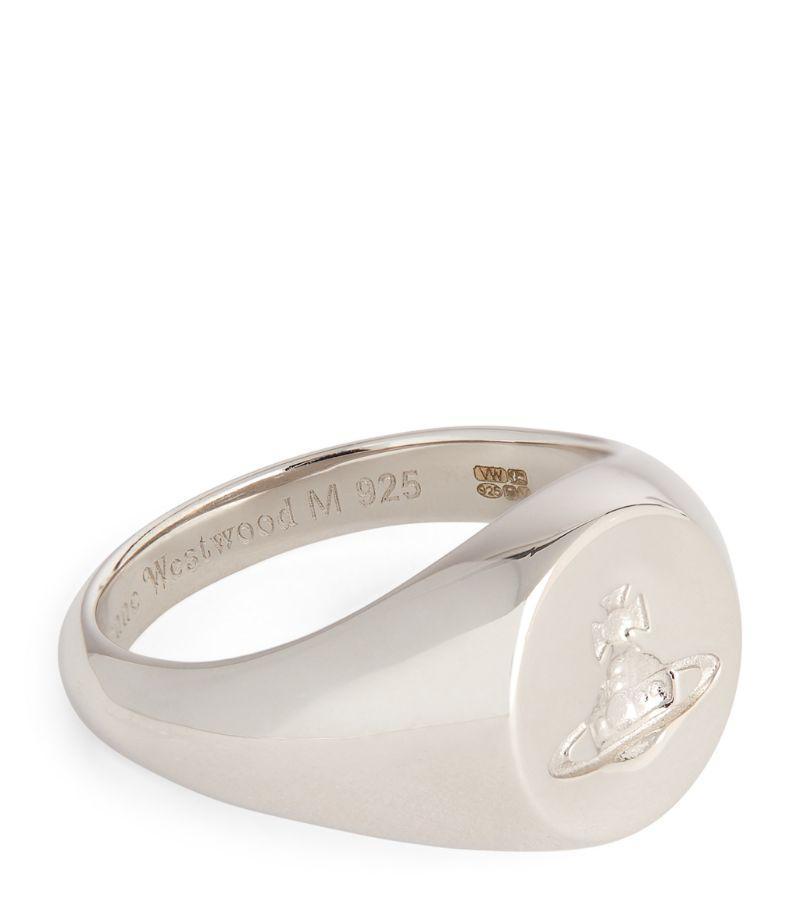 Vivienne Westwood Sterling Silver Orb Signet Ring