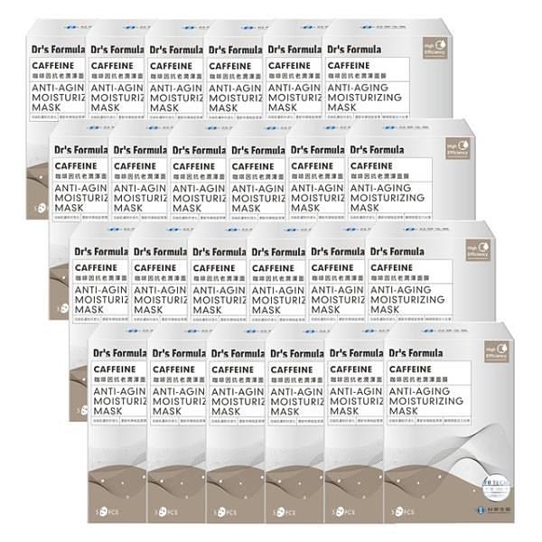 【南紡購物中心】《台塑生醫》Dr's Formula咖啡因抗老潤澤面膜(5片/盒)*24盒入