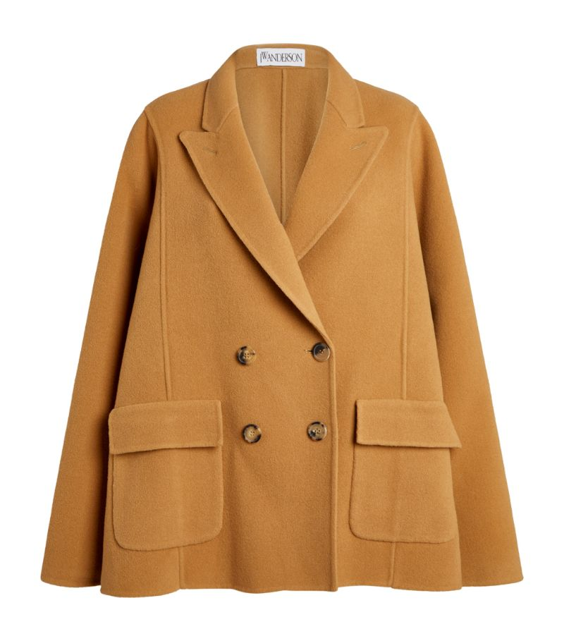Jw Anderson Double-Breasted Cape Coat