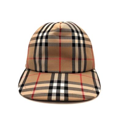 BURBERRY Vintage 格紋帆布棒球帽(8026929-卡其)