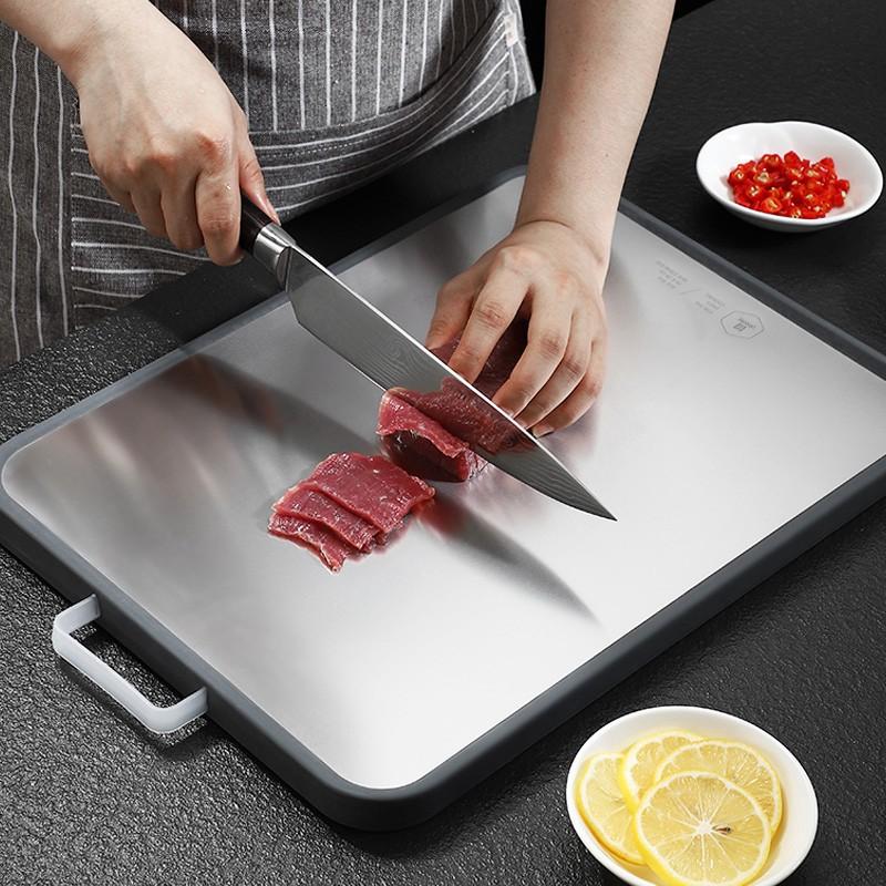 【火爆價】歐匯德國304不銹鋼切菜砧板抗菌防霉加厚家用PE塑料廚房粘板案板