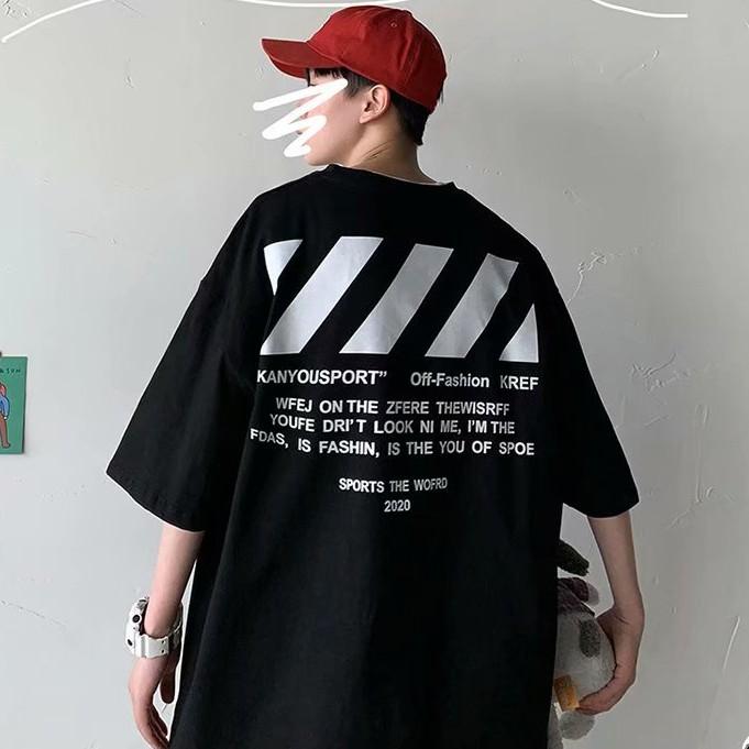 M-8XL 韓版夏季衣服 素t 潮流 日系 短袖T恤 男生 寬鬆 嘻哈 大尺碼 情侶 五分袖 男t 短T(GFT82)