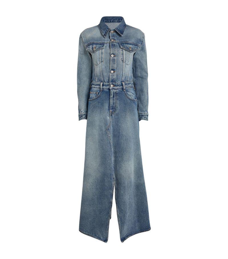 Mm6 Maison Margiela Split-Hem Denim Maxi Dress