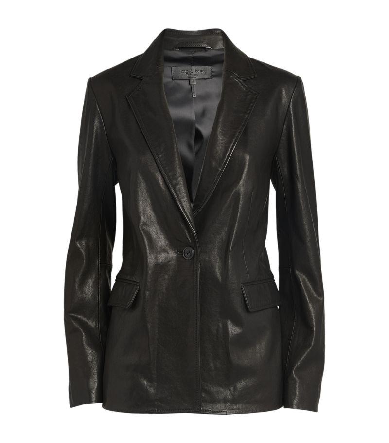 Rag & Bone Leather Trinity Blazer