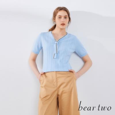 beartwo-綁結領五分袖線衫(三色)