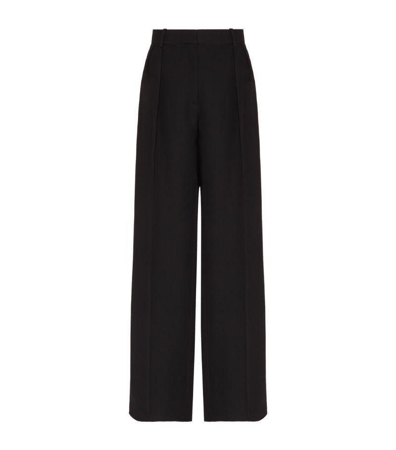 Valentino Silk Wide-Leg Trousers