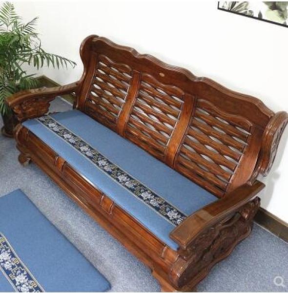 四季通用實木沙發墊中式古典