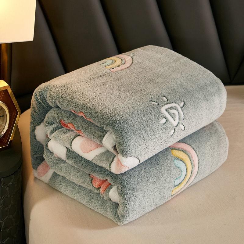 ❤現貨❤雪花絨毛毯秋季薄被子珊瑚絨小毯子學生法蘭絨床單辦公室午睡蓋毯