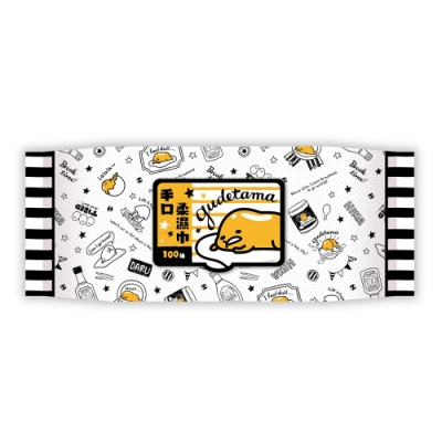Sanrio 三麗鷗 蛋黃哥 手口加蓋濕紙巾 100抽X18包/組