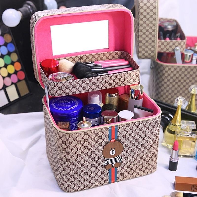 韓版化妝包大容量新款可愛便攜化妝箱大小號學生網紅化妝品收納盒