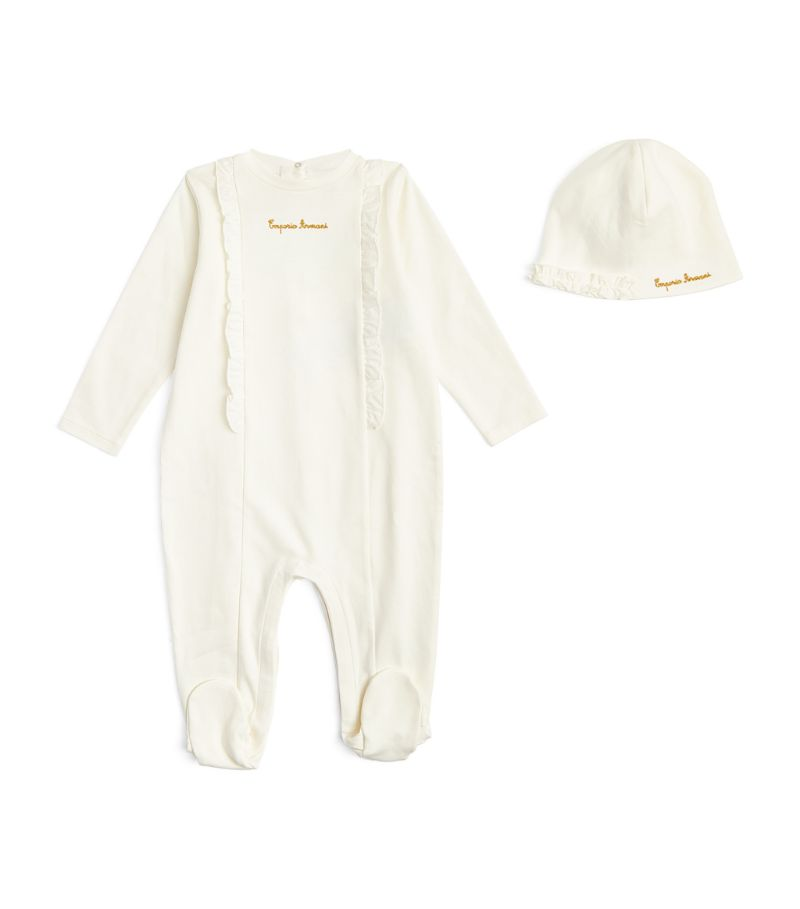 Emporio Armani Kids All-In-One And Hat Set (1-12 Months)