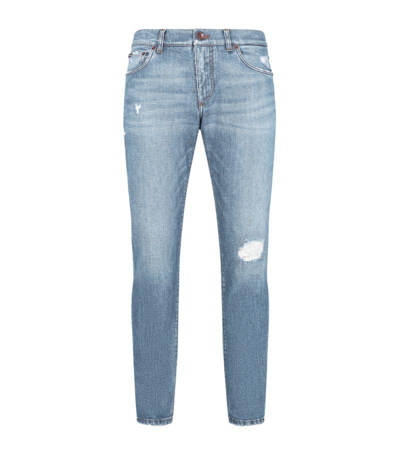 Dolce & Gabbana Slim Light-Wash Jeans