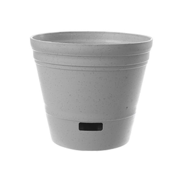 素陶透氣圓盆6吋(灰白)