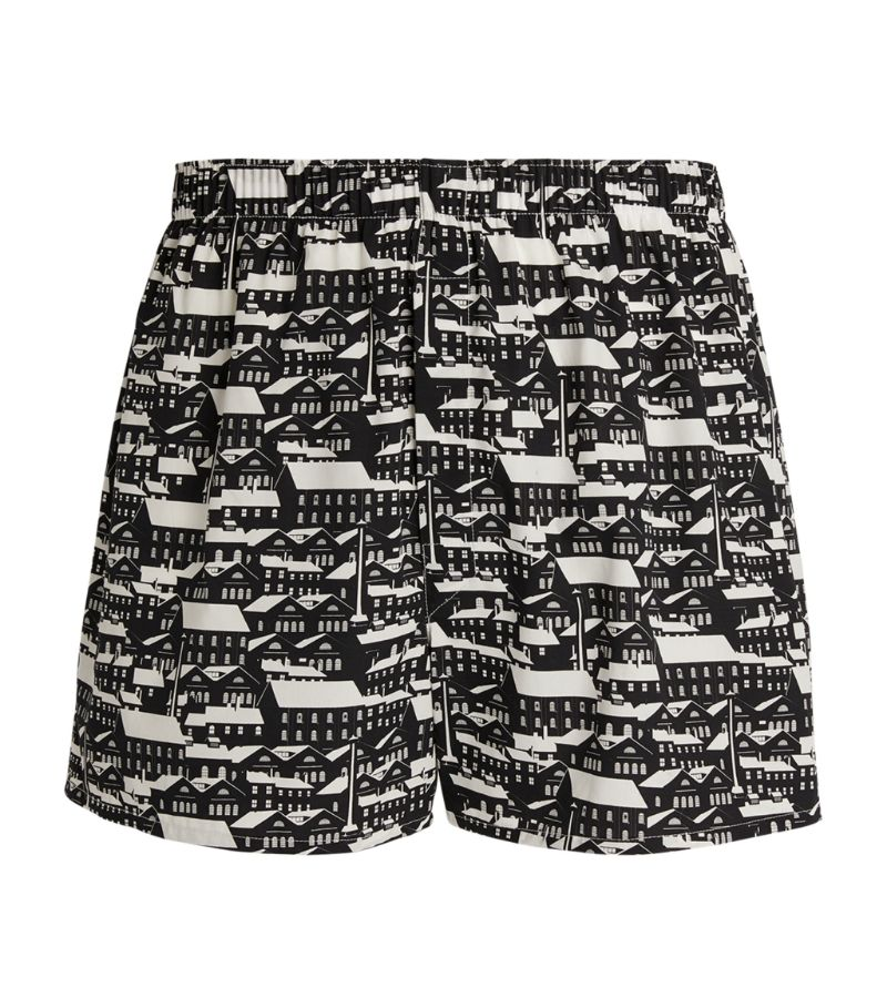 Sunspel Patterned Cotton Boxers