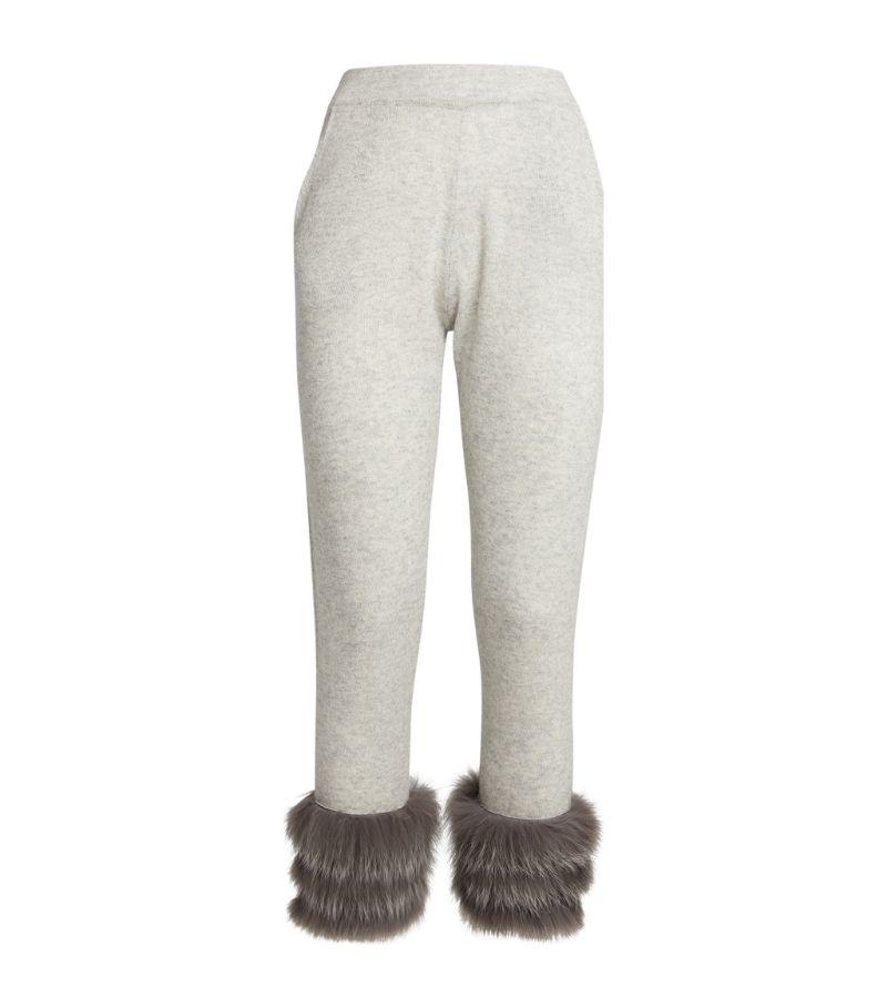 Izaak Azanei Fur-Trim Slim Sweatpants