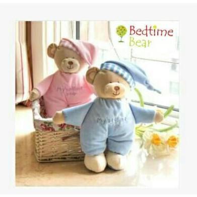 Bedtime Bear兒童嬰兒安撫玩具寶寶安睡毛絨玩偶小熊公仔睡覺小熊