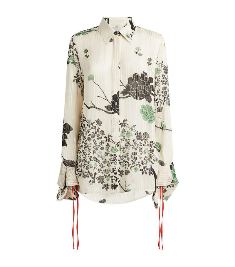 Victoria Beckham Flounce-Cuff Shirt