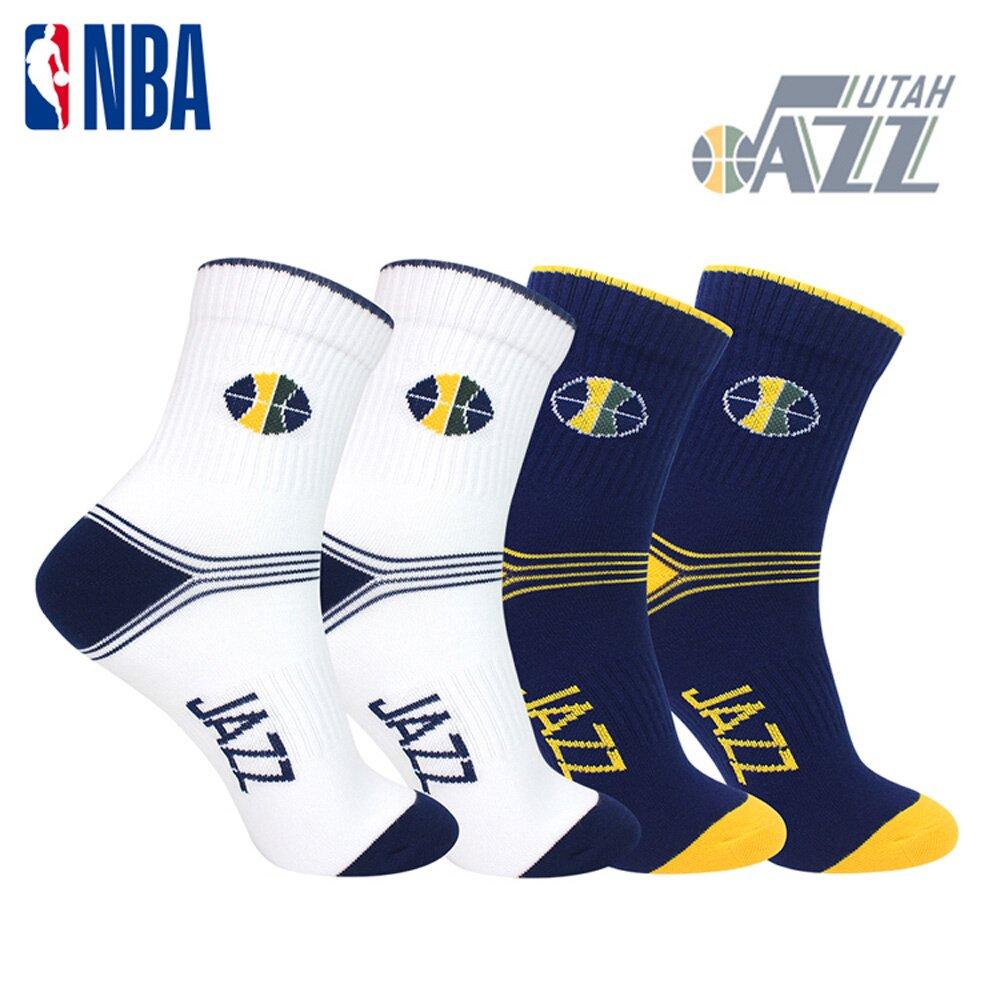 NBA 爵士隊 球隊款緹花中筒襪.運動襪.籃球襪.襪子(藏青/白色)